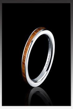 Incredibly sleek mens wedding ring #Wood #Love #Wedding