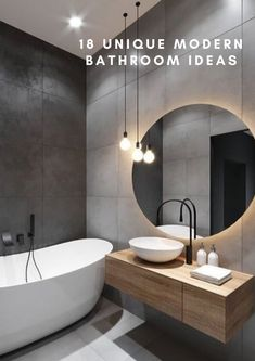 Black Bathroom Taps, Wood Bathroom, Grey Bathrooms, Master Bathroom, Grey Bathroom Interior, Black White Bathrooms, Bathroom Mirrors, Kitchen Interior, Interior Design Minimalist