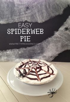 Spider Web Pie! ... so easy and so fun! {www.prettyprovidence.com}: Spider Web Pie! ... so easy and so fun! {www.prettyprovidence.com}