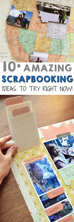 Take your scrapbook game to the next level with these scrapbooking ideas! It's the perfect, crafty way to celebrate life's big moments and milestones. Scrapbook Journal, Scrapbook Page Layouts, Baby Scrapbook, Travel Scrapbook, Scrapbook Paper Crafts, Scrapbook Cards, Kids Scrapbook Ideas, Scrapbook Albums, Pocket Letter