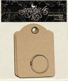 Graphic45 Staples-KRAFT ARTIST TRADING TAGS scrapbooking (6) TAGS & BINDER RING