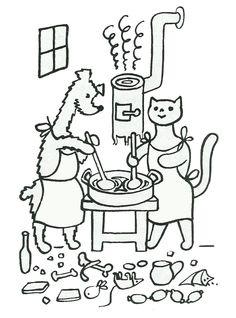 pohádka: Pejsek a kočička07 Jak si pejsek s kočičkou dělali k svátku dort
