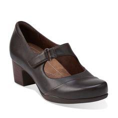 Rosalyn Wren Dark Brown Leather - Clarks Womens Shoes - Womens Heels and Flats - Clarks - Clarks® Shoes