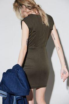 Automne | hiver 16.17 – eve gravel kaki dress Bodycon Dress, Collection, Dresses, Fashion, Fall Winter, Vestidos, Moda, Body Con, Fashion Styles