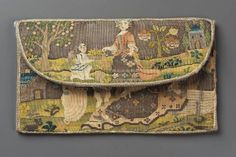 1660-90, Pocketbook, France, Silk and metallic thread, tapestry weave, Museum of Fine Arts, Boston