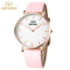 nice Casual Women Watch Pink Genuine Leather Buckle Band Ultrathin Warterproof Quartz Girl Student Ladies Watch Fashion montre femme
