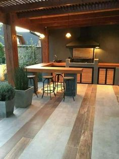 """Figure out more relevant information on """"outdoor kitchen designs layout patio"""". … Figure out more relevant information on """"outdoor kitchen designs layout patio"""". Look at our website. Outdoor Spaces, Outdoor Living, Outdoor Decor, Rustic Outdoor, Outdoor Ideas, Outdoor Bar Areas, Rustic Pergola, Metal Pergola, Outdoor Pergola"""