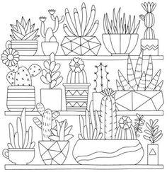 Mindful Succulents Coloring Book: A Tiny Terrarium Coloring Book #bordados