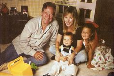 1998 family photo, Michael Sloan, Melissa Sue Anderson, Griffin and Piper.