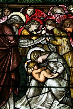 Stained glass designed by Edward Burne-Jones, private chapel, Castle  Howard