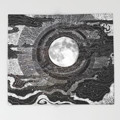 Moon Glow Throw Blanket by Brenda Erickson