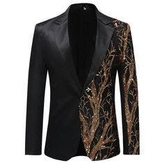 YUNCLOS 2019 Single Breasted Sequin Stage Suit Jacket Men Party Hip Hop Suit Fashion Digital Printing Drama costume Blazer - To buy again Casual Blazer, Blazer Outfits, Blazer Suit, Suit Vest, Tomboy Outfits, Men Casual, Casual Outfits, Gray Blazer, Yellow Blazer