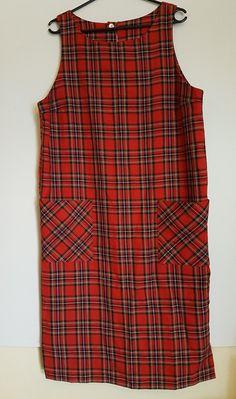 Vintage 1980's red tartan mod dress by VintageTwists on Etsy