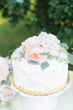 Peony topped bridal shower cake | Ashley Slater Photography | see more on: http://burnettsboards.com/2015/02/bridal-shower-tea-party/