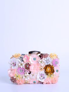 Shop Clutches - Pink Small Polyester Evening Clutch online. Discover unique designers fashion at StyleWe.com.