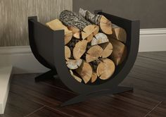 With a matt black finish these contemporary log baskets are an attractive fireside accessory. You may also choose to use it as a practical basket for fetching and storing wood from your outdoor store to maximise the enjoyment from your stove. The Broseley Stove Accessories, Accessories Online, Outdoor Store, Wood Burner, Firewood, Basket, Home Appliances, Stoves, Crafts