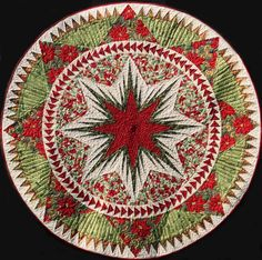 Christmas Celebration Tree Skirt~Quiltworx.com  Made by Judy Wurm