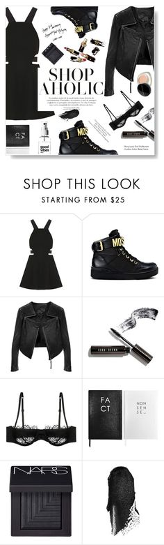"""""""High Tops"""" by dorachelariu ❤ liked on Polyvore featuring Elizabeth and James, Moschino, Linea Pelle, Bobbi Brown Cosmetics, Morgan Lane, Sloane Stationery, NARS Cosmetics, Marc Jacobs and hightops"""