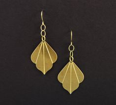Gold Art Deco Earrings