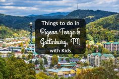 If you're headed to the Smoky Mountains, see these fun things to do in Pigeon Forge & Gatlinburg TN with kids: our favorite attractions, restaurants & more! Gatlinburg Vacation, Gatlinburg Tennessee, Tennessee Vacation, Gatlinburg Attractions, Pigeon Forge Attractions, Pigeon Forge Tennessee, Family Vacation Spots, Vacation Places, Vacation Trips