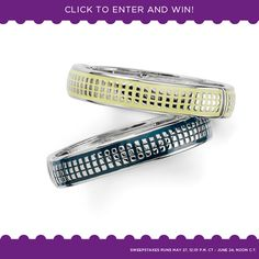 A different prize each day ... the Pixel bracelets in lemon and navy.