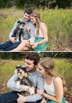 Engagement Pictures with Dog. Miranda Marrs Photography.