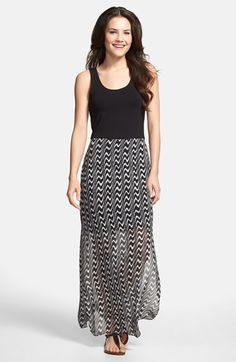 Vince Camuto Print Chiffon Overlay Maxi Dress (Regular & Petite) available at #Nordstrom