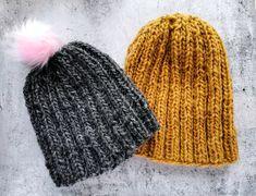 Ullmössor Mustard Yellow, Knitted Hats, Winter Hats, Beanie, Wool, Stitch, Knitting, Pink, Fashion