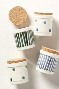 cork-topped spice jars from anthropologie