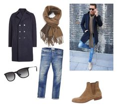 """""""Untitled #42"""" by benelux2 ❤ liked on Polyvore featuring Harris Wharf London, Scotch & Soda, Yves Saint Laurent, Ray-Ban, Polo Ralph Lauren, men's fashion and menswear"""