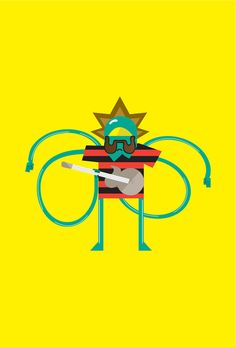 Bob Rock [illustration] by Claudio Parisi, via Behance