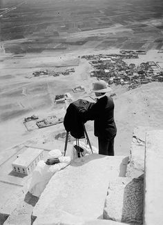 A rare shot taken from the pick of the pyramids #egypt