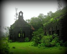 This old church on the top of the mountain at Fort Purundar. There is another old church in the background.