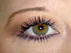 Make green and hazel eyes pop- Purple eyeshadow as liner