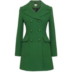 Bright Green Pea Coat | Kaliko Tailored Pea Coat, Bright Green