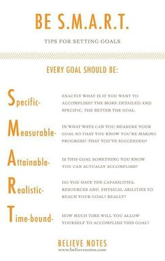 Believe Notes: Setting Goals 101 - Keeping Your Business and Personal Life on Track goal setting #goal