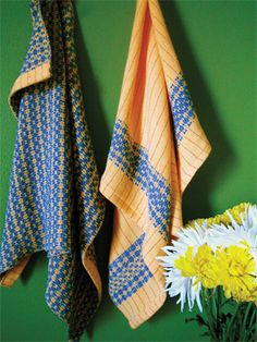 Sunshine Bamboo Dishtowels - Kit.  Love the color combination