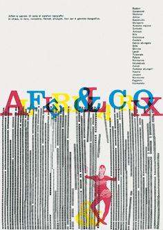 Franco Grignani - typographic poster