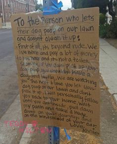 Pissed Off Woman Vows To Personally Poop On The Doorstep Of The Next Dog Owner Who Doesn't Clean Up Poop Left On Her Lawn!