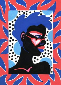 Print from Lynnie Zulu's Wild Things series, exploring different female personality types. Zulu says her bold and colourful artwork is inspired by exoticism and surreal African paintings Art And Illustration, Medical Illustration, Outline Artists, Kunst Portfolio, Peruvian Textiles, Collage Drawing, Drawing Tips, Africa Art, Zulu