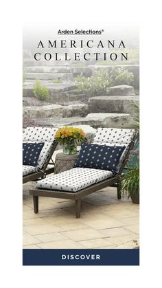 Arden Selections The Americana Collection Black & White Printed Patio Cushions Outdoor Chaise Cushions, Seat Cushions, Replacement Patio Cushions, Outdoor Fabric, Patio Ideas, Outdoor Living, Outdoor Furniture Sets, Essentials, Black And White