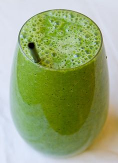 Granny Smith Smoothie - tastes just like the apples but only pineapple, green grapes, and spinach! (don't worry can't taste the spinach!) My hubby would love this!