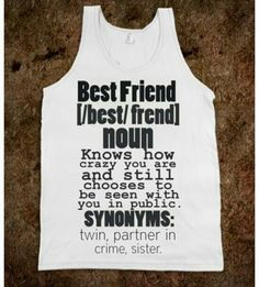 54 Trendy funny shirts for girls bff sisters Best Friend T Shirts, Bff Shirts, Best Friend Outfits, Best Friend Quotes, Cute Shirts, Funny Shirts, Best Friends, Best Friend Stuff, Besties Quotes
