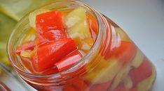 Ingrediente : 5 kg ardei gras Pentru marinata: 1 litru apa pahar sare… Romanian Food, Conservation, Cantaloupe, Watermelon, Dishes, Fruit, Vegetables, Recipes, Outfit