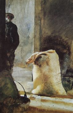 Andrew Wyeth - Grain bag (1961)