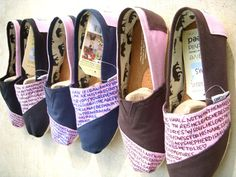 Such a fan of customizing #TOMS with wording.. but these need some decor, too!