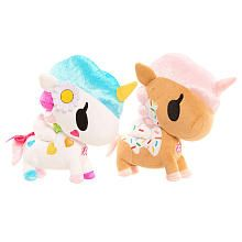 Neon Star by Tokidoki Belle and Dolce 2 Pack Stuffed Doll - Brown/White