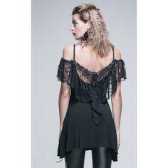 Sublime Haut Gothique Romantique de la marque Devil Fashion orné d'une dentelle finement ciselée au dos et sur les épaules! Il s'accordera facilement avec toutes vos Tenues pour un look Sexy et Chic! #Vetement #Gothique