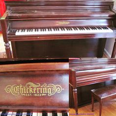 "Chickering upright piano measuring 59"" long. Bids close Wed, 21 Sept from 7pm ET. http://bid.cannonsauctions.com/cgi-bin/mnlist.cgi?redbird61/103/3"