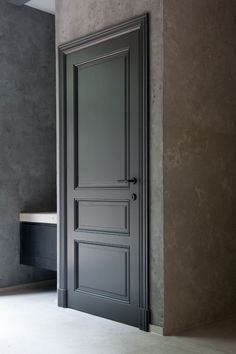 When you need a truly dramatic, dramatic look, nothing is more dramatic than the use of black interior doors. Black doors give you the kind of feel that . Interior Door Styles, Black Interior Doors, Door Design Interior, Dark Doors, Windows And Doors, The Doors, Front Doors, Wooden Windows, Door Molding